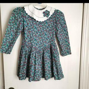 Vintage girls floral dress size 4-5